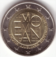 Slovenia 2 Euro 2015 Emona - Ljubljana UNC Bimetall Coin From Roll - Slovenia