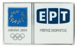 Athens 2004 Olympics Media Pin ERT Greek TV & Radio Pin  - Greece - Giochi Olimpici