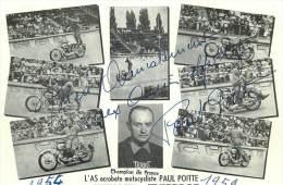 Terrot - Champion De France - L'As Acrobate Motocycliste (carte Dédicacée) - Motorcycle Sport
