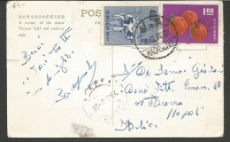 SPE64--- POSTAL HISTORY, TAIWAN----ACERRA, NAPOLI,  ITALIA. - Lettres & Documents