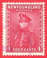 Canada Newfoundland # 189 - 4 Cents - O F - Dated  1932-37 - Prince Of Wales / Prince De Galles - Neufundland