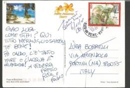 SPE66-- POSTAL HISTORY,  POLYNESIE---PORTICI,  NAPOLI,  ITALIA, - Polinesia Francese