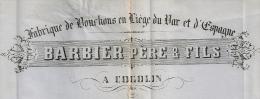 Fabrique De Bouchons, Liège, LAC GC 1067 COGOLIN Var, 2° échelon. 5 SCANS ! - 1849-1876: Période Classique