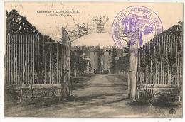 BELHOMERT, Eure Et Loir, Dépot De Convalescents Du Chateau Des VEAUX  Sur CPA Du Chateau De VILLEBON. - Marcophilie (Lettres)