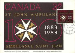 1983  St John Ambulance Centenary  Sc 980 - Maximumkaarten