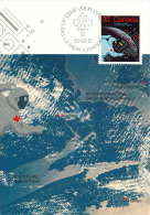 1985  Canadians In Space  Sc 1046  First Day Cancel - Maximumkaarten