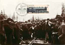 1985  Canadian Pacific Locomotive  Sc 1072 First Day Cancel - Maximumkaarten