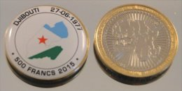 Djibouti 500 Francs 2015 Bimetal Couleurs Drapeau - Djibouti