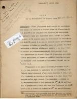 VP3595 - Tabac -  Note Sur La Fabrication Du Caporal Doux Au MANS  - Mr SCHOESING à PARIS - Documents