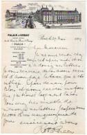 VP3597 - Tabac -  Lettre De Mr GREEN Au Palais D'Orsay Grand Hotel De La Gare Du Quai D'Osay  - Mr SCHOESING à PARIS - Documenten