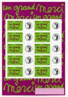 UN GRAND MERCI SERVICE PHILATELIQUE DE LA POSTE - Mint/Hinged