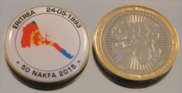 Erythrée 50 Nakfa 2015 Bimetal Couleurs Drapeau - Erythrée