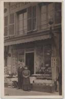 CPA PHOTO 75 PARIS X 184 Rue Du Faubourg Saint Martin Commerce Articles Pour La Coiffure Peignes 1907 Rare - District 10