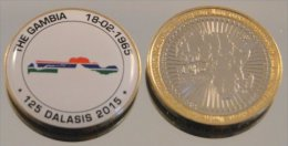 Gambie 125 Dalasis 2015 Bimetal Couleurs Drapeau - Gambia