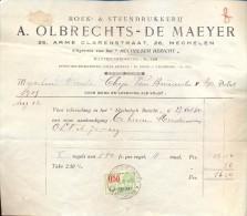 Factuur Facture - Boek & Steendrukkerij Olbrechts - De Maeyer - Mechelen 1935 - Imprimerie & Papeterie