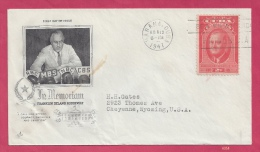 First Day Cover - Cuba - Scott #406 - Commemorate Franklin D. Roosevelt [#4054] - FDC