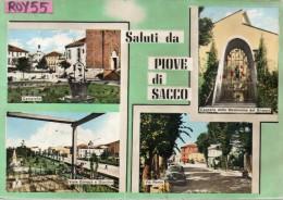 Veneto-vicenza-piove Di Sacco Vedute Via Roma Viale Europa Saluti Da Anni 50 - Altre Città