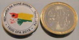 Guinée Bissau 2015 Bimetal Couleurs Drapeau - Guinea-Bissau