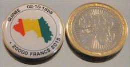 Guinée 2015 Bimetal Couleurs Drapeau - Guinée
