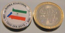 Guinée Equatoriale 2015 Bimetal Couleurs Drapeau - Equatorial Guinea