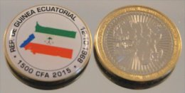 Guinée Equatoriale 2015 Bimetal Couleurs Drapeau - Guinée Equatoriale