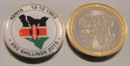 Kenya 2015 Bimetal Couleurs Drapeau - Kenya