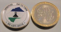 Lesotho 2015 Bimetal Couleurs Drapeau - Lesotho