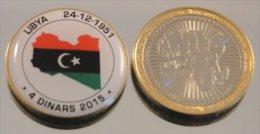 Libye 2015 Bimetal Couleurs Drapeau - Libye