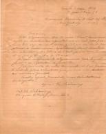 VP3600 -  Tabac - Lettre  De Mr Th. SCHLOESING à PARIS  & Télégramme De NEW YORK State Tobacco - Documents
