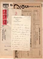 VP3601 -Tabac - Lot De Documents Concernant La Cie HEALTHO PRODUCTS à CINCINNATI & Télégramme Avec Pub CITROEN - Documents