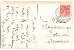 Poststempel GOUDA Kensmarkt *9* BEZOEKT ... 1927 - Storia Postale