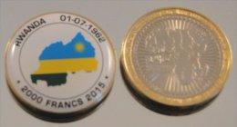 Rwanda 2015 Bimetal Couleurs Drapeau - Rwanda