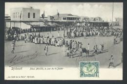 CPA - Afrique - DJIBOUTI - Place MENELIK  Le Jour Du 14 Juillet   // - Djibouti