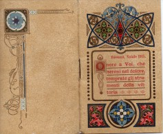 """04049""""ONORE A VOI CHE SERENI NEL DOLORE TEMPRATE GLI STRUMENTI DELLA VITTORIA-CALENDARIO 1916"""" BASSANO NOEL 1915 LIBERTY - Calendars"""