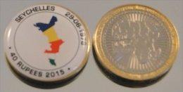 Seychelles 2015 Bimetal Couleurs Drapeau - Seychelles