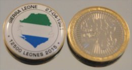 Sierra Leone 2015 Bimetal Couleurs Drapeau - Sierra Leone