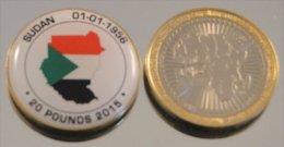 Soudan 2015 Bimetal Couleurs Drapeau - Soudan