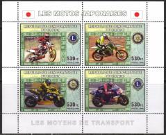 R. D. Du Congo 2006 - Motos Japonaises - BF 4 Val ** Neufs // Mnh - République Démocratique Du Congo (1997 -...)