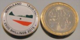 Somaliland 2015 Bimetal Couleurs Drapeau - Monnaies