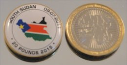 Sud Soudan 2015 Bimetal Couleurs Drapeau - Coins