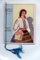 """04050 """"BERTELLI - CALENDARIO 1934"""" COSTUMI DELL'EUROPA ORIENTALE - ANTICA MANIFATTURA COLTELLERIE CAUDANO & C. -TORINO - Formato Piccolo : 1921-40"""