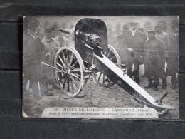 """F01 - Guerre 1914-18 - Musée De L´Armée - Piece De 57 """"/"""" Prise Aux Allemands En Artois  - Correspondance Militaire 1916 - Guerre 1914-18"""