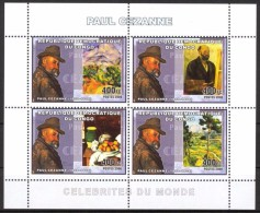 R. D. Du Congo 2006 - Art, Peintures Et Portrait De Paul Cézanne - BF 4 Val ** Neufs // Mnh - République Démocratique Du Congo (1997 -...)