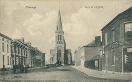 BELGIQUE MANAGE / La Place Et L'Eglise / - Manage