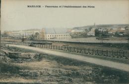BELGIQUE MARLOIE / Panorama Et L'établissement Des Pères / CARTE COULEUR - Belgique