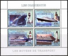 R. D. Du Congo 2006 - Phares, Paquebots, Titanic - BF 4 Val ** Neufs // Mnh - République Démocratique Du Congo (1997 -...)