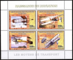 R. D. Du Congo 2006 - Naissance De L'aviation, Vieux Avions - BF 4 Val ** Neufs // Mnh - République Démocratique Du Congo (1997 -...)