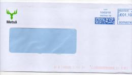 Belgique--2015--Lettre Pour La France--EMA  BDPM07401 -enveloppe Personnalisée  METSA - Belgium