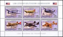 R. D. Du Congo 2006 - Avions Militaires Américains 2e Guerre Mondiale - BF 6 Val ** Neufs // Mnh - République Démocratique Du Congo (1997 -...)