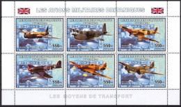 R. D. Du Congo 2006 - Avions Militaires Britaniques 2e Guerre Mondiale - BF 6 Val ** Neufs // Mnh - République Démocratique Du Congo (1997 -...)